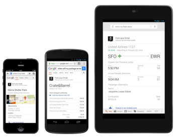 Google announced it's expanding Google Now to help consumers stay organized when making purchases and booking travel.