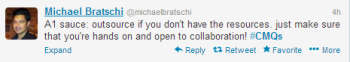 Michael Bratschi's response to Brafton's latest #cmQs question.