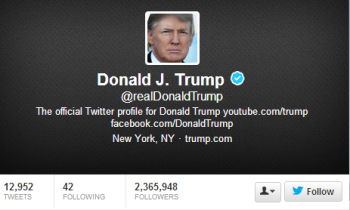 Donald Trump's Tweets provide business benefits through reach and brand awareness.