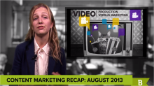 Content marketing recap August 2013