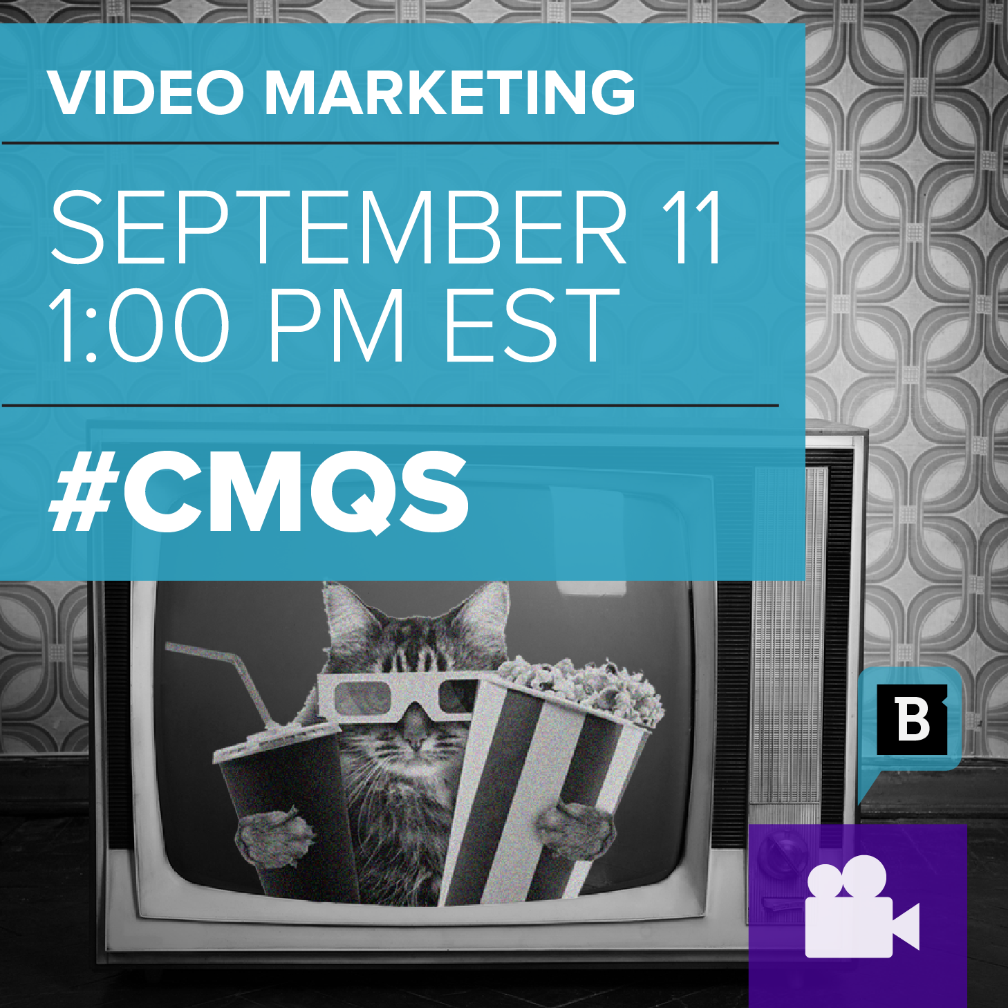 Brafton's Video Webinar #cmQs discuss video content.