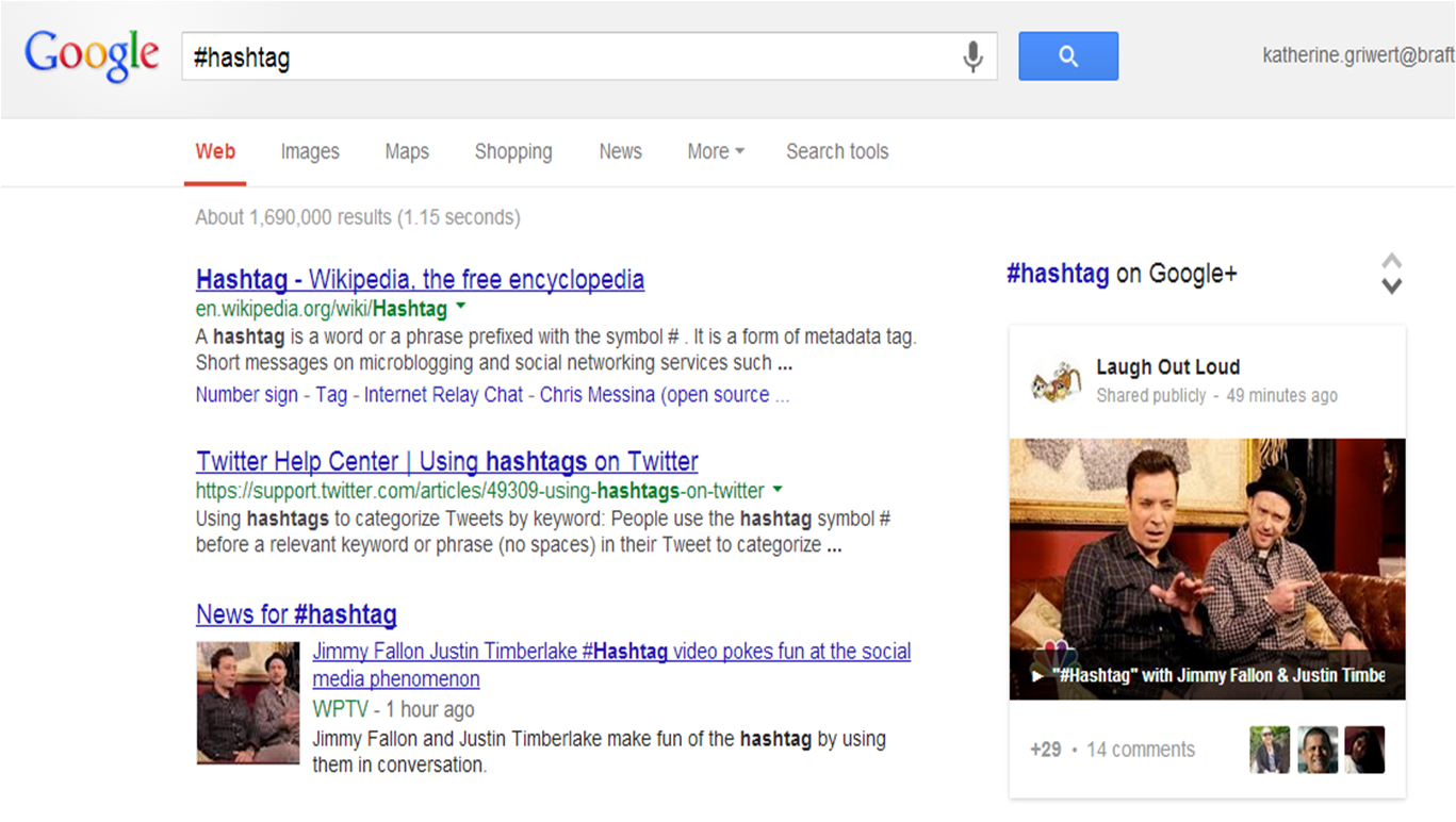 Google announced #hashtag search
