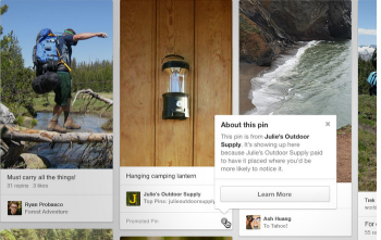 Pinterest ads have arrived and brands that develop strong sponsored content marketing campaigns can drive viewers to product pages.