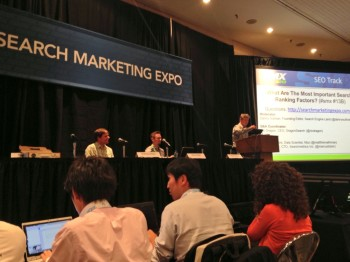 SEO ranking factors de-mystified:The stats about current ranking signals and predictions on the future of search from SMX East.