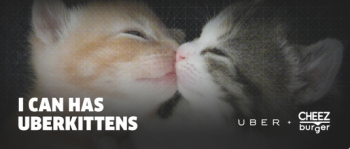 Uber and Cheezburger team up for National Cat day to bring people kittens on-demand in a mobile, local marketing play that inspires.