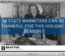 The holiday season is upon us, and there are many reasons marketers should be thankful. Check out these 34 stats that prove why.