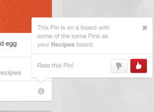 Pinterest recently announced 'related Pins,' a feature that shows consumers similar content, but they might not put up with irrelevant posts.