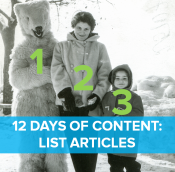 On the second day of content, web marketing gave to me: Two trend lists.