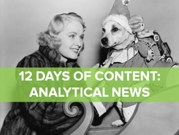 On the first day of content, marketing gave to you: One good overview of analytical news.