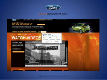 Ford is one of the pioneers of YouTube contest, asking participants to create their own videos as submissions.