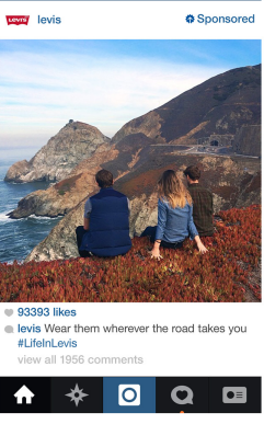 Levi's visual content strategy is generating leads and awareness.