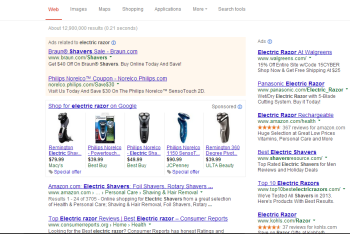 Google provides the old results page for general products searches.