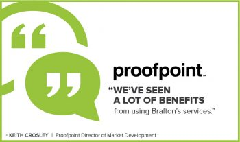 Proofpoint calls Brafton its favorite marketing vendor - watch the video to see why.
