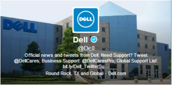 Dell uses multiple Twitter handles to reach its various audiences.