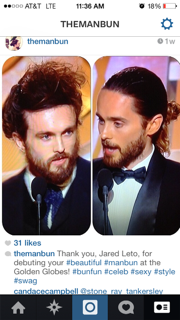 Jared Leto's Man Bun gave the hashtag the traction it needed.