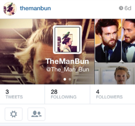 The Man Bun Instagram generates buzz with strategic hashtag.