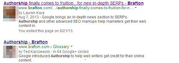 Marketers might see content writers' rich snippets disappearing from SERPs.