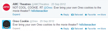 AMC responds to Oreo's Tweet with a big social media response.
