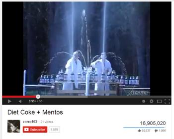 Coke + Mentos