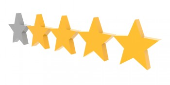 stars rating review customers four five