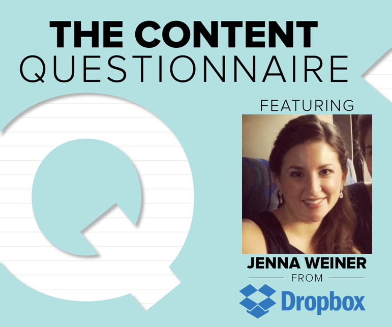 Brafton's Content Questionnaire with Jenna Weiner from DropBox