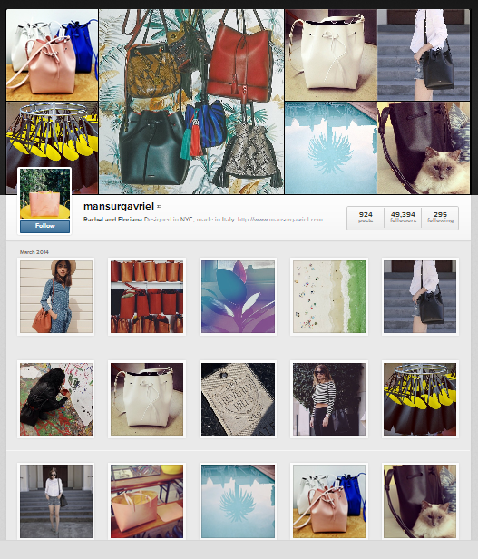Mansur Gavriel Instagram