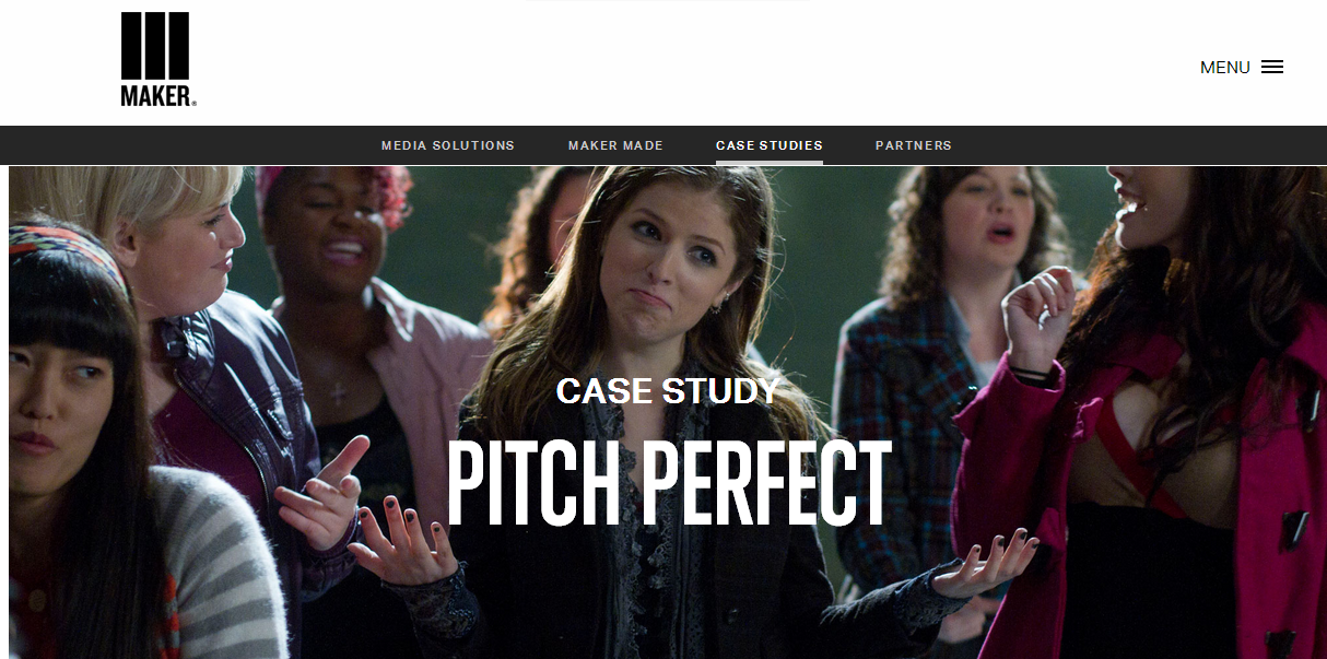 Pitch Perfect is an example of how brands can advertise their companies on YouTube.