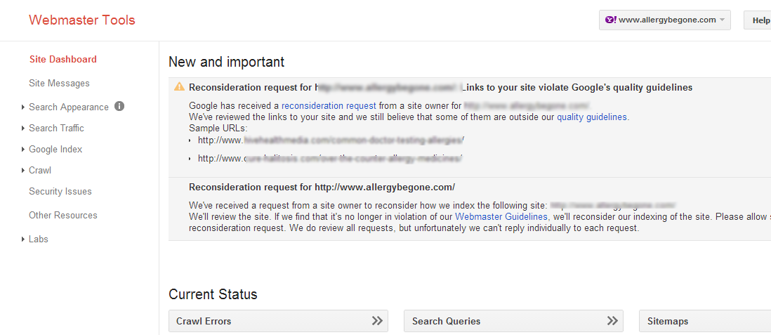It's not always forgive and forget with Google, as evidenced by this denied Reconsideration request.