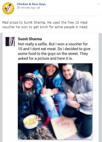 Sumit Chicken and Rice Guys Boston