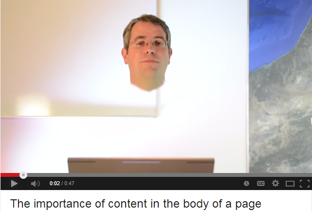 Matt Cutts said marketers are mistaken if they don't create a strong body for their content.