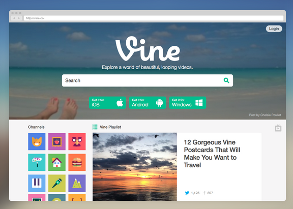 Vine recently redesigned its website, giving users more browsing capabilities.