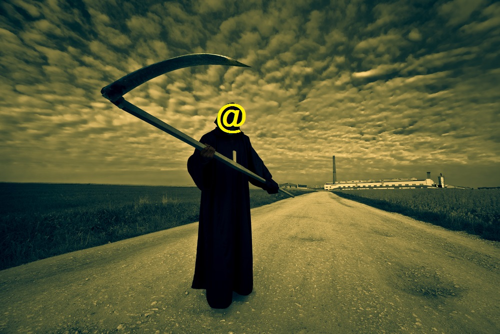 grim reaper @mention twitter social marketing