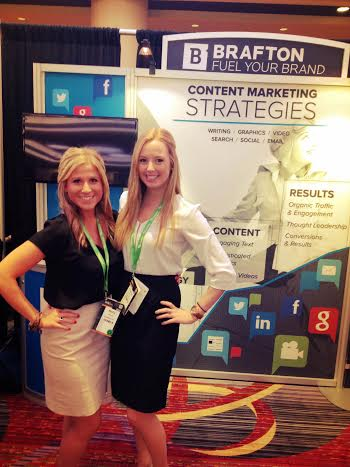 Molly and teammate Lindsay O'Toole at ClickZ New York.
