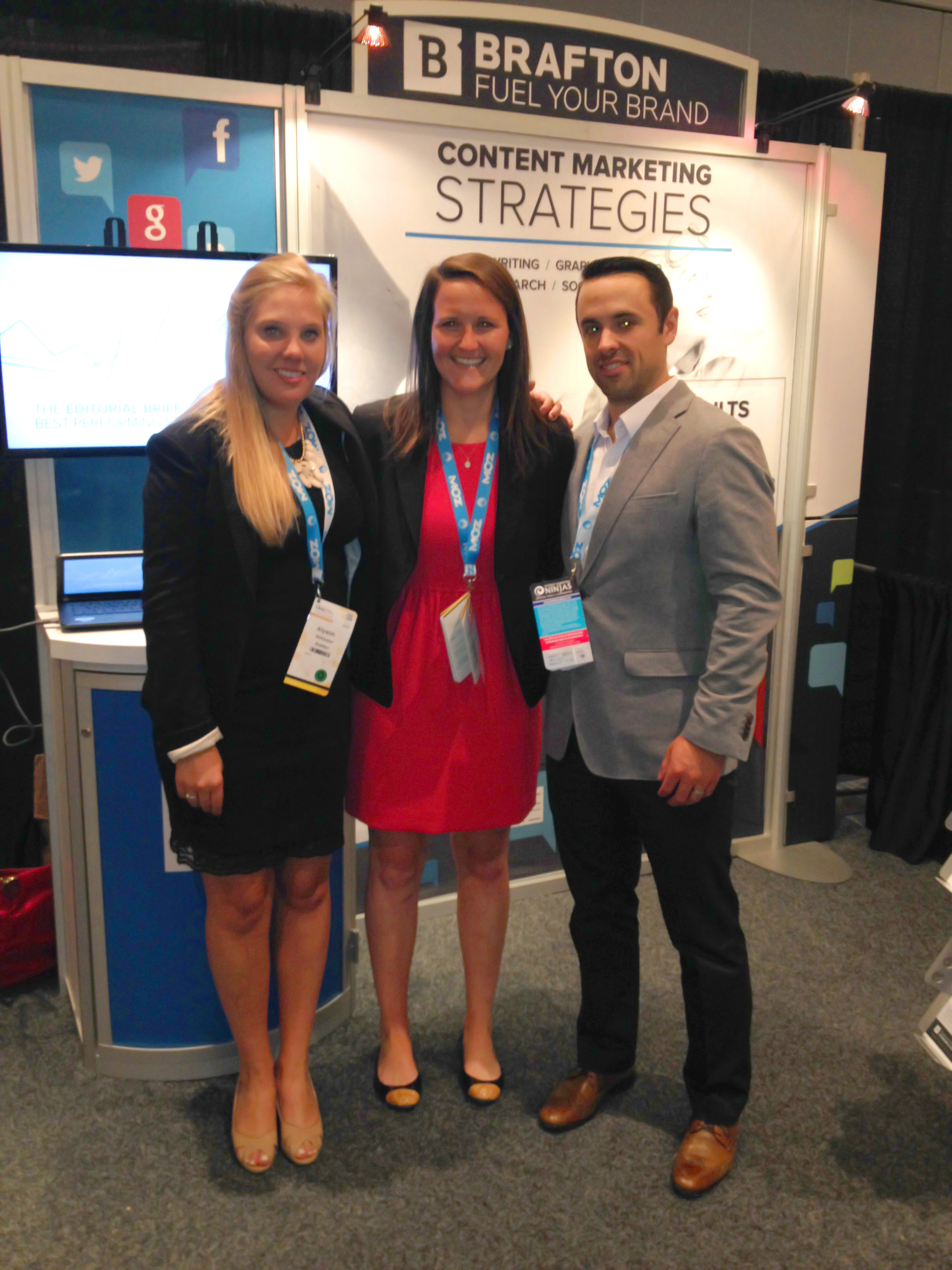 Brafton's team at last year's ClickZ Live event