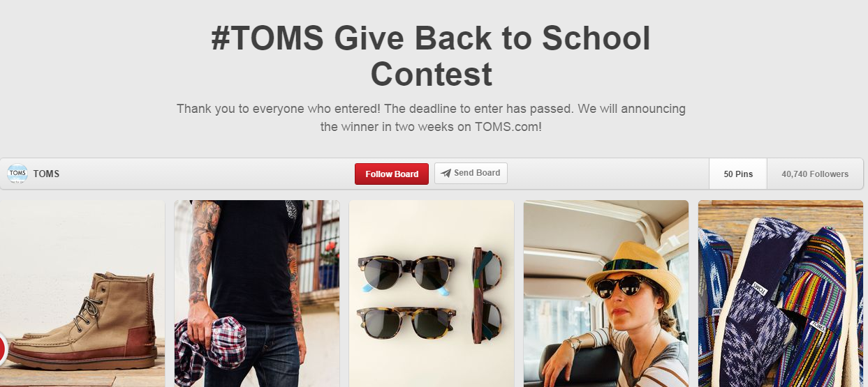 ca22b632b1271 Toms Back to School Tom s Give Back to School Contest