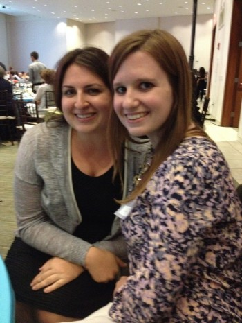 Brafton Social Media Manager Kristen Fritz and Brafton Senior Social Strategist Jill DiLibero at an 826 event.