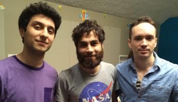Justin with fellow Braftonians Kaan and John.