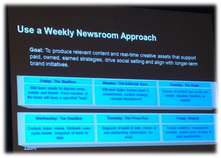 IBM at SMX East - newsroom content marketing example