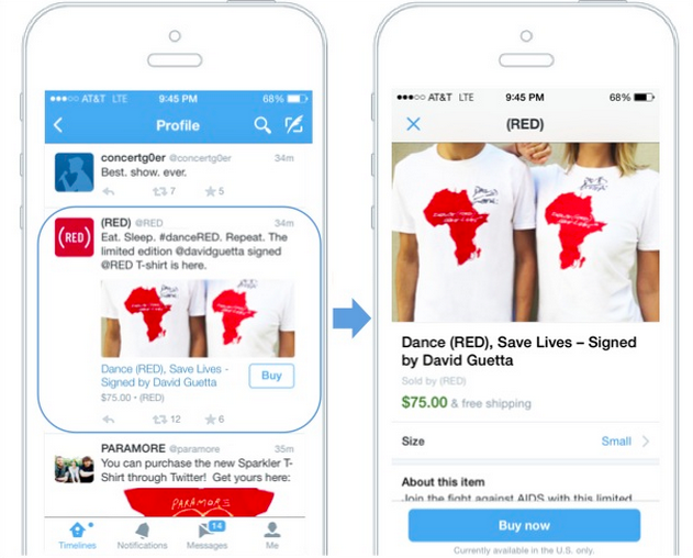 Twitter buy no button