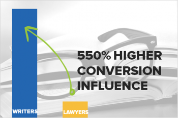 550 PERCENT HIGHER CONVERSIONS FROM GOOD WRITING
