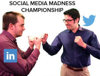 Max and Bob duked it out for the Social Media Madness championship in March.