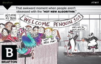 Penguin and Panda: Old news? Our latest marketing cartoon ponders whether brands finally *get* content is best for SEO. Marketing #TWIT