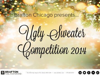 """Braftonians showed their """"ugly"""" side in our annual ugly holiday sweater competition in Chicago! Check out the photos from the event."""