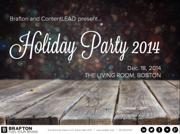 A peek into working at Brafton. Photo Slideshare from our annual holiday party in Boston.