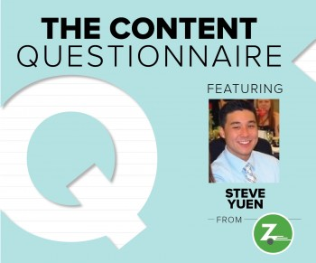We're talking content marketing insights with Zipcar's Marketing Specialist Steve Yuen.