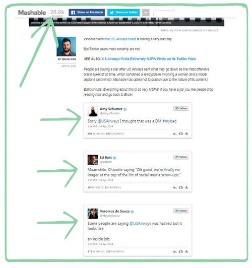 Mashable Twitter Article Example