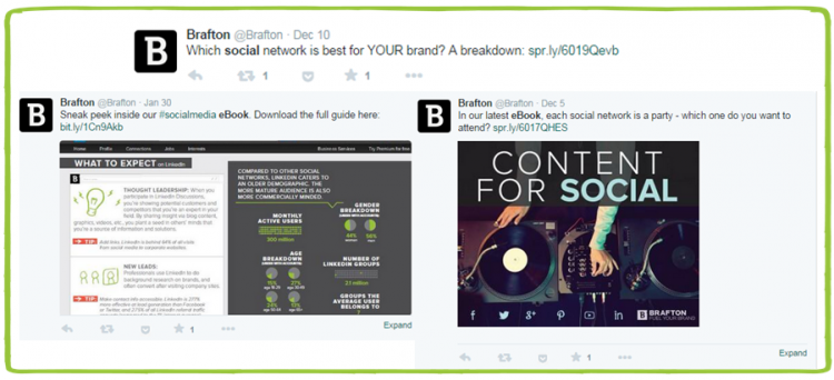 Brafton Twitter Social Example