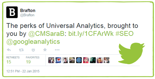 Brafton Universal Analytics Tweet