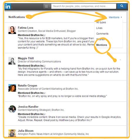 Notification Center LinkedIn
