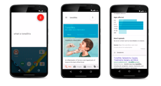 Google brings health care information directly into search results for easy access to information.